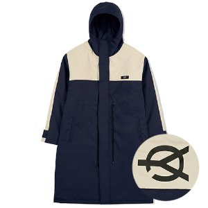 [OY] LOGO BLOCK LONG PARKA-NAVY