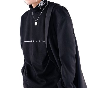 [A.Clown]Dandelion Half Polar Long-Sleeve