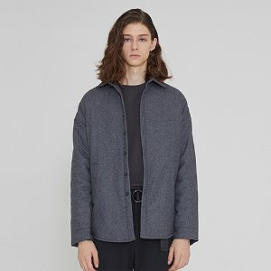 [IRONYPORNO]UNISEX WOOL BASIC SHIRT JACKET IRO014 GRAY