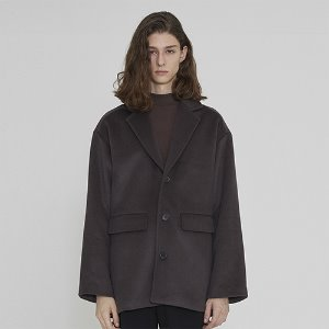 [IRONYPORNO]UNISEX WOOL SINGLE SHORT COAT IRO010 PURPLE