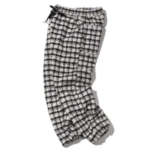 [KRUCHI] Hound Tooth Check Easy Pants (black)