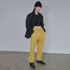 [XYZ] UNISEX LONG STRING POCKET JOGGER PANTS - MUSTARD