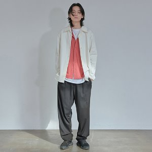 [XYZ] UNISEX TWO TUCK WIDE SLACKS - BLACK