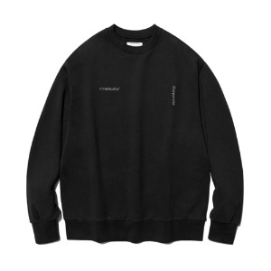 [비바스튜디오] NEW CORPORATE CREWNECK JS - BLACK