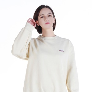 [레베니아] BTT SALMON SWEATHSHIRT_CREAM