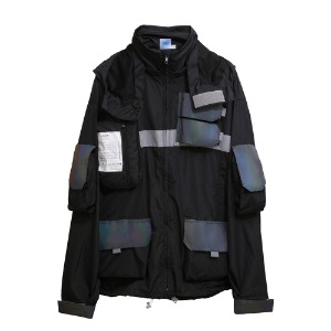 [더블에이씨] 0.20 Hologram Smock Jacket