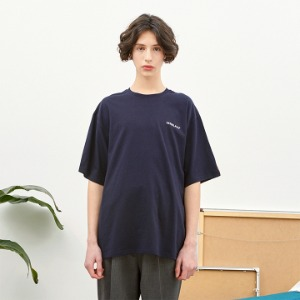 [언더라벨] PATCHED T-SHIRT_NAVY