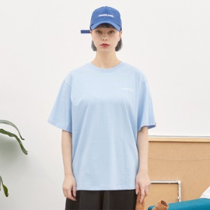 [언더라벨] PATCHED T-SHIRT_LIGHT BLUE