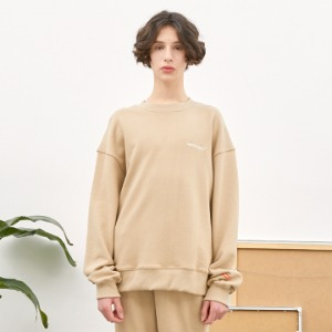 [언더라벨] PATCHED SWEAT SHIRT_BEIGE