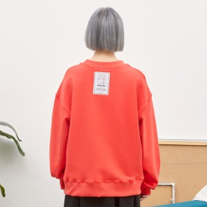 [언더라벨] PATCHED SWEAT SHIRT_CHERRY RED
