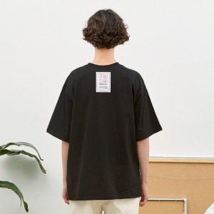 [언더라벨] PATCHED T-SHIRT_BLACK