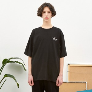 [언더라벨] SIGNATURE T-SHIRT_BLACK