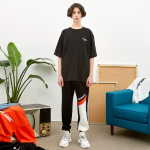 [언더라벨] UNBALANCED SWEAT PANTS_BLACK