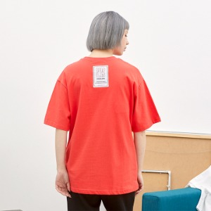 [언더라벨] PATCHED T-SHIRT_CHERRY RED