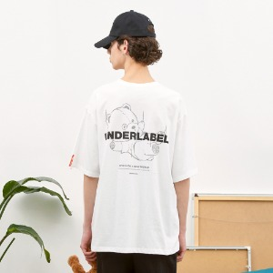 [언더라벨] DIVING BEAR T-SHIRT_WHITE
