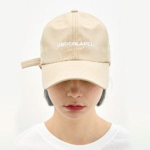 [언더라벨] UNDERLABEL BALL CAP_BEIGE