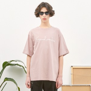 [언더라벨] PALM TREE BEAR T-SHIRT_INDIAN PINK