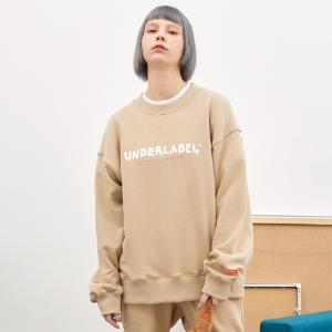 [언더라벨] MELTING LOGO SWEAT SHIRT_BEIGE