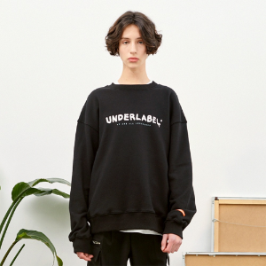 [언더라벨] MELTING LOGO SWEAT SHIRT_BLACK