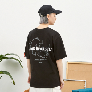 [언더라벨] DIVING BEAR T-SHIRT_BLACK