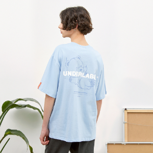 [언더라벨] DIVING BEAR T-SHIRT_LIGHT BLUE