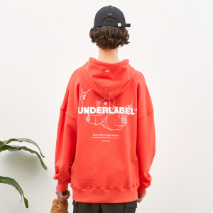 [언더라벨] DIVING BEAR HOODIE_CHERRY RED