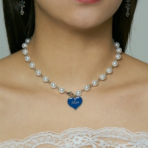 [HAWHA] Hope heart pearl necklace