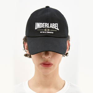 [언더라벨] ARCH LOGO BALL CAP_BLACK