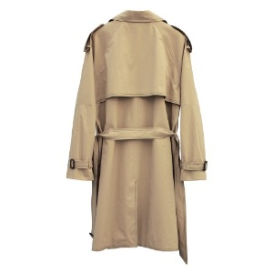 [RUNDS] stitch double trench coat (beige)