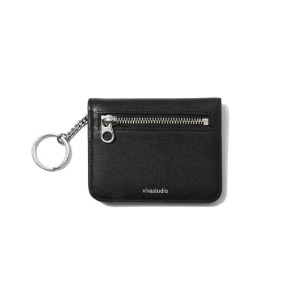 [viva studio] LEATHER FOLDING WALLET JS - BLACK