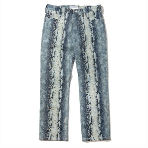 [KING]Python Denim Pants-Blue
