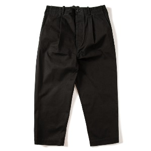 [KING]Pleated Wide Pants -Black