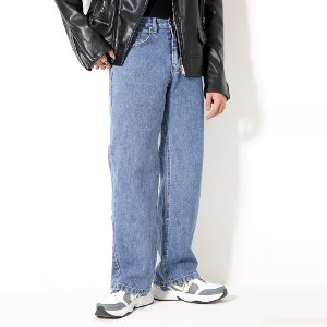 [XTONZ] XP51 BIG WIDE DENIM PANTS (BLUE)