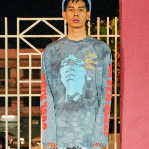 [아임낫어휴먼비잉] The Man Long Sleeve T-Shirt - TEAL