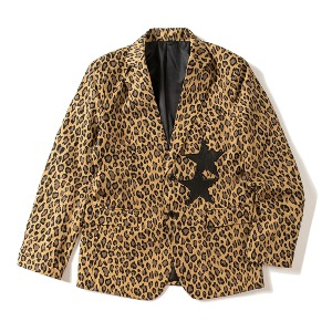 [KING]Single-breasted Blazer -Leopard