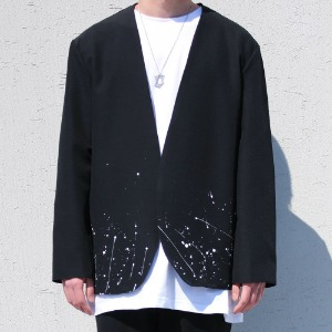 [RUNDS] painting collarless blazer