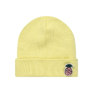 [PINK PINEAPPLE] WAPPEN BEANIE_YELLOW