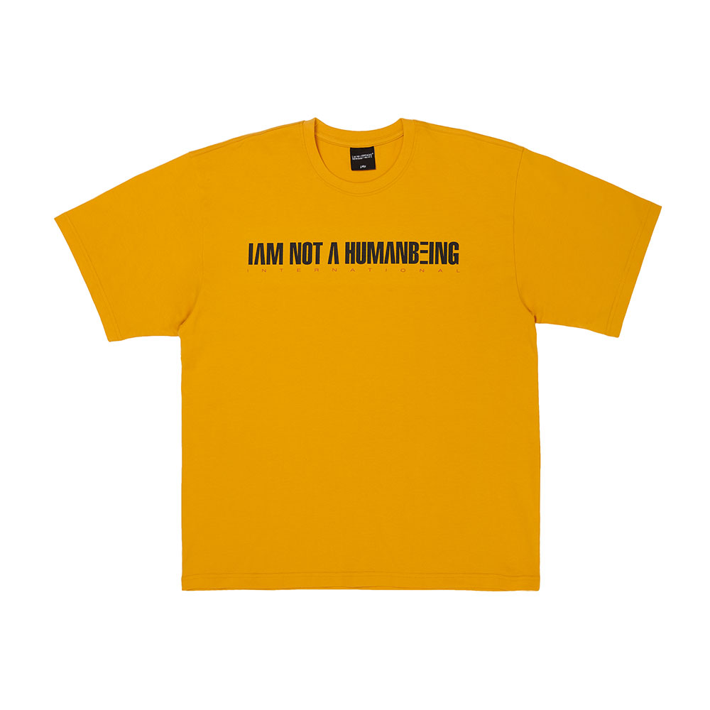 [아임낫어휴먼비잉] I AM NOT A HUMANBEING Short Sleeve T-Shirt - MUSTARD