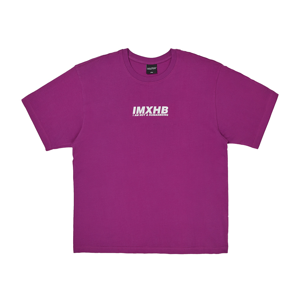[아임낫어휴먼비잉] Word Short Sleeve T-Shirt - PURPLE