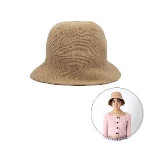 [BLUE PIE] Knitting Bucket Hat - BEIGE