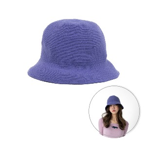 [BLUE PIE] Knitting Bucket Hat - LIGHT PURPLE