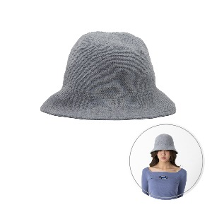 [BLUE PIE] Knitting Bucket Hat - GRAY