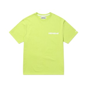 [WEMEWE] SMALL LOGO T-SHIRT_LIME