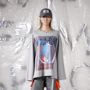 [WOOVING] SPACE BOX LONG SLEEVES - GRAY