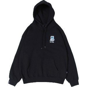 [낫포너드] Dot Pc Mosaic Logo Pullover Hood Black