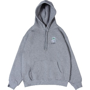 [낫포너드] Dot Pc Mosaic Logo Pullover Hood Grey