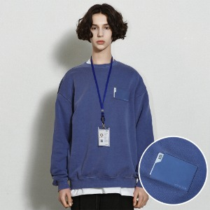 [낫포너드] Pigment Card Wallet Crewneck Midnight Blue