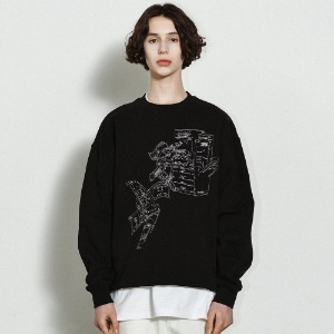 [낫포너드] Money Printer Crewneck Black
