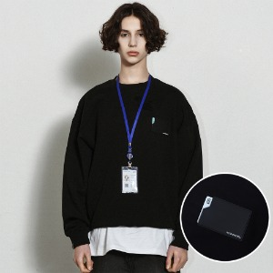 [낫포너드] Card Wallet Crewneck Black