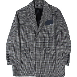 [낫포너드] Card Wallet Oversized Blazer Glen Check
